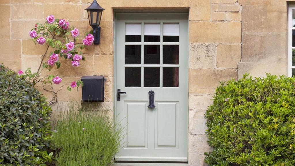 door on a stone house