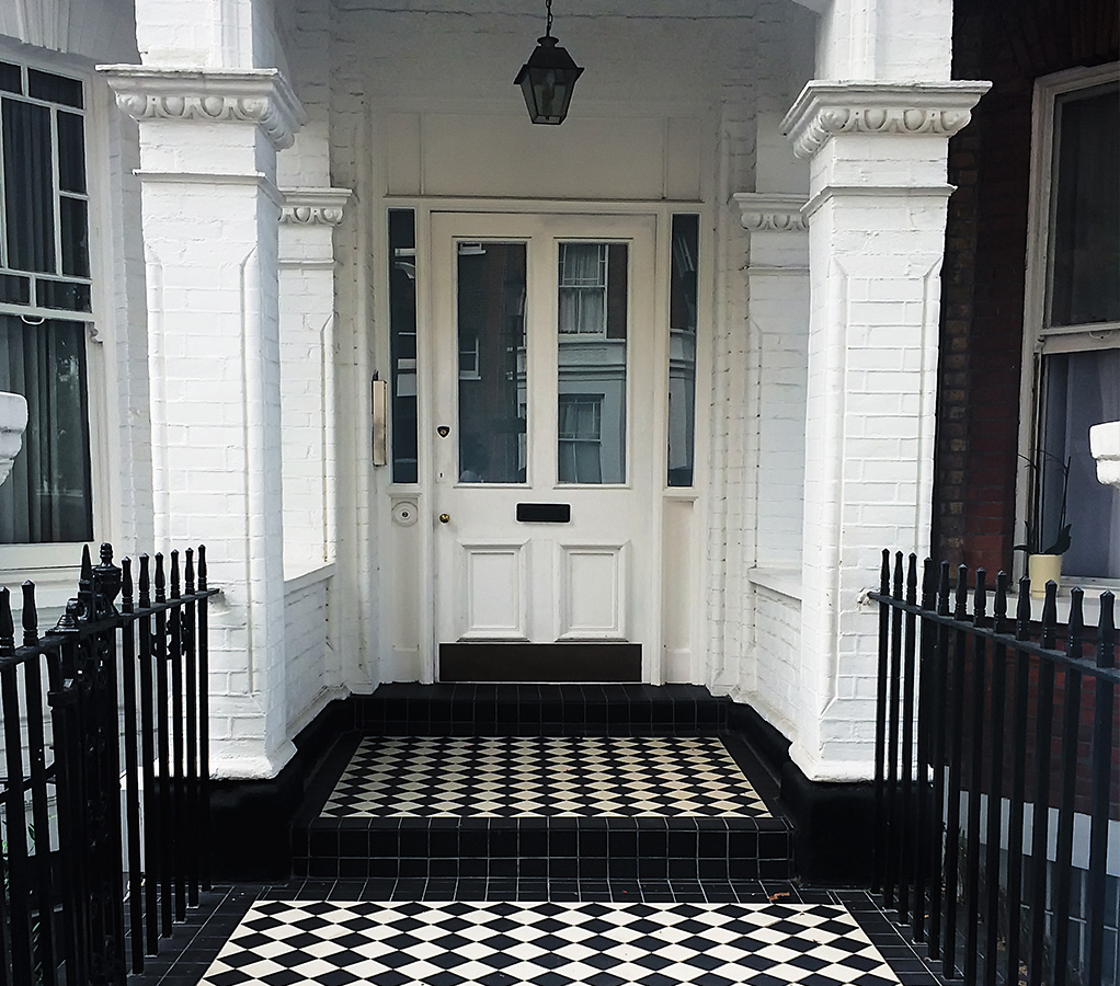 Porch on traditional period home