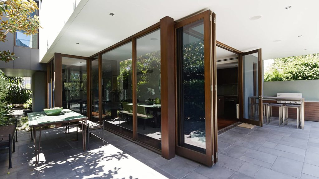 bi fold doors opening out to patio area